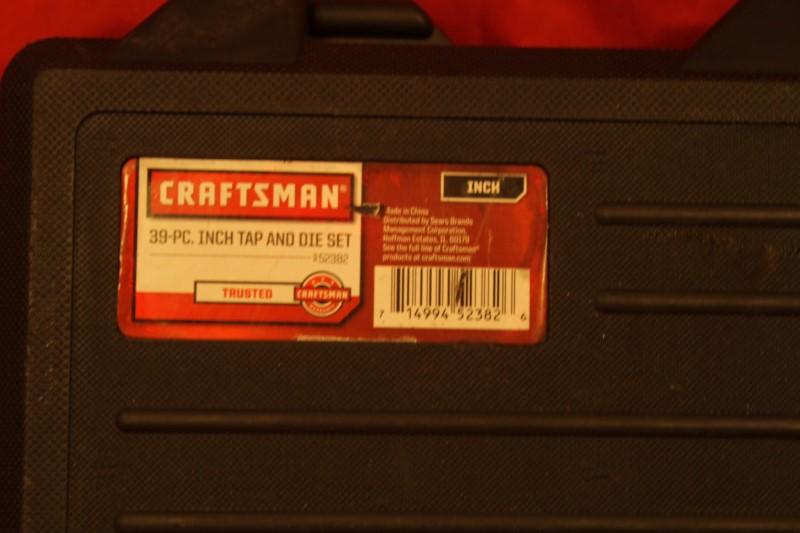 Craftsman Standard 39 piece Tap & Die Set 9-52382 w/ Case