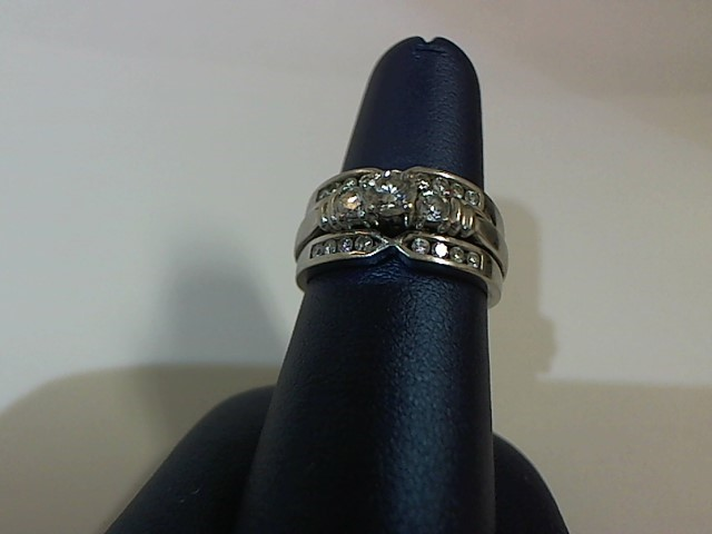 Lady's Diamond Wedding Set 19 Diamonds .75 Carat T.W. 14K White Gold 8.2g