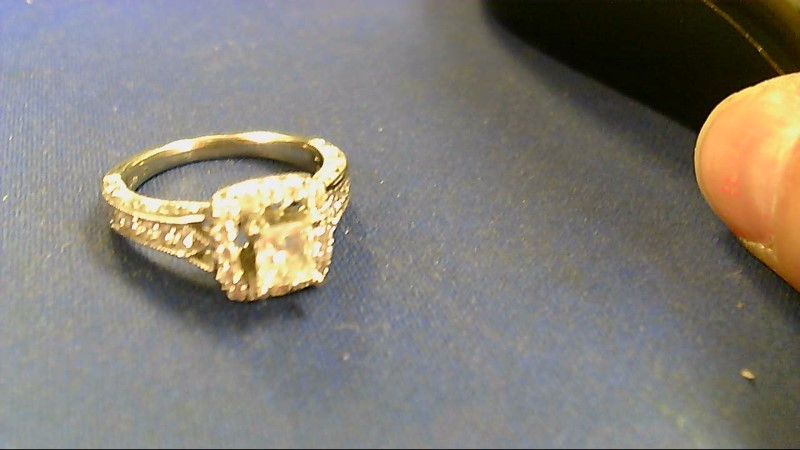 Lady's Diamond Engagement Ring 27 Diamonds 1.37 Carat T.W. 14K White Gold 5.9g
