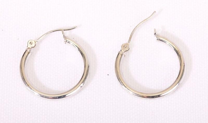 Gold Earrings 14K White Gold 0.8g