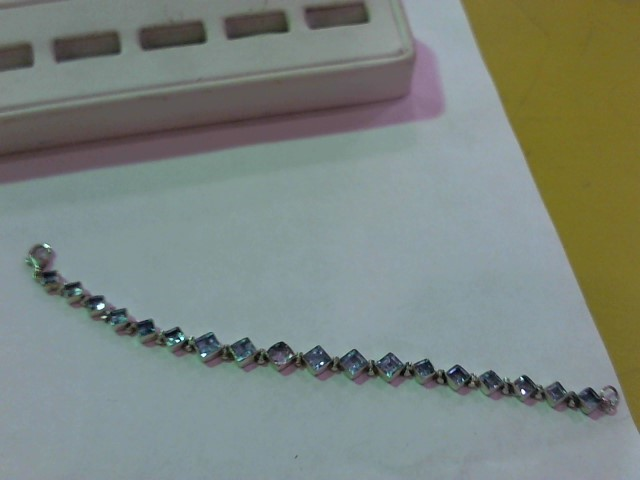 Blue Stone Silver-Stone Bracelet 925 Silver 13.9g