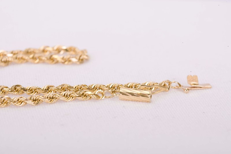 """20"""" Gold Rope Chain 14K Yellow Gold 10.8g"""