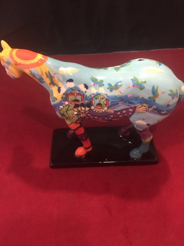 THE TRAILS OF PAINTED PONIES Collectible Plate/Figurine GIFT HORSE