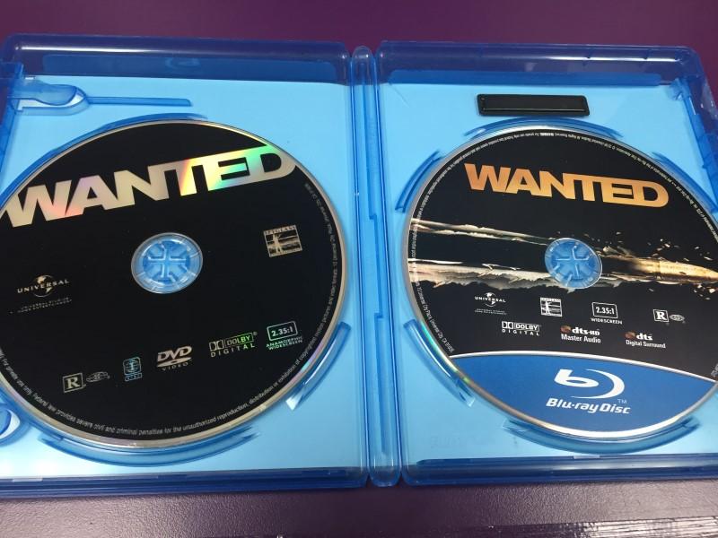 WANTED BLU-RAY + DVD + DIGITAL COPY