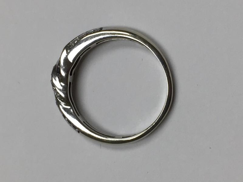 Gent's Diamond Fashion Ring 37 Diamonds .37 Carat T.W. 10K White Gold 1.8dwt