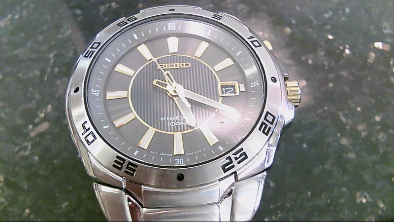 Seiko Kinetic Stainless Steel Watch