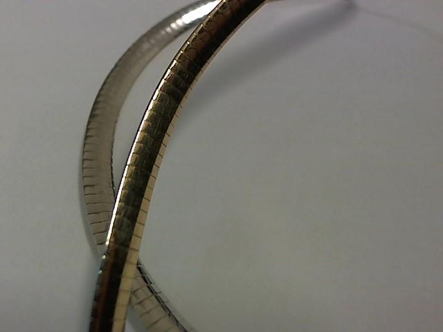 Gold Omega Chain 14K 2 Tone Gold 24.2g