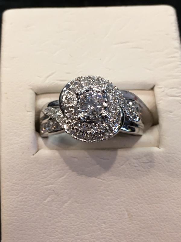 Lady's Diamond Fashion Ring 34 Diamonds .72 Carat T.W. 14K White Gold 4.2dwt
