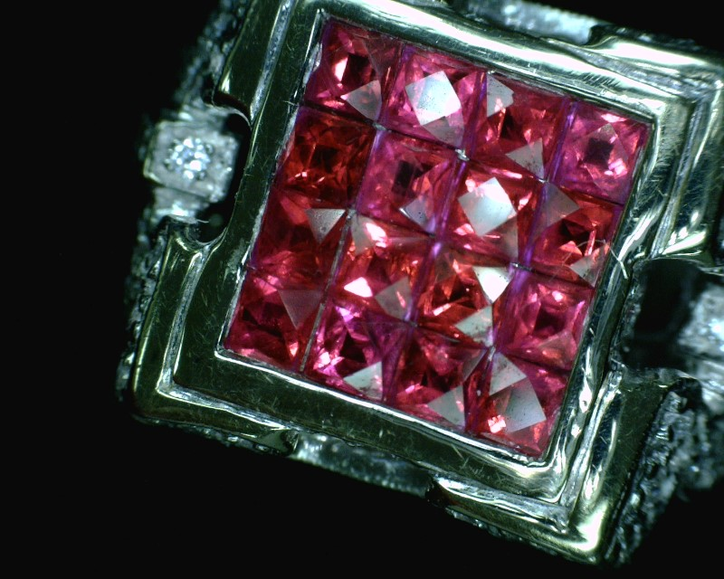 Ruby Lady's Stone & Diamond Ring 80 Diamonds .80 Carat T.W. 18K White Gold
