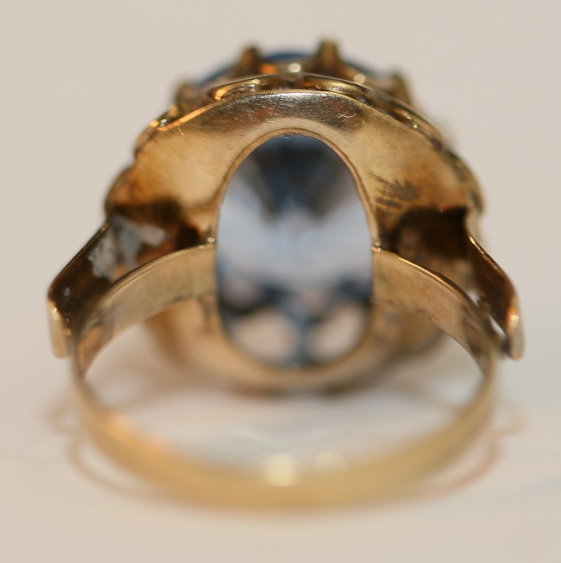 Blue Topaz 14K Yellow Gold Ring Size 6