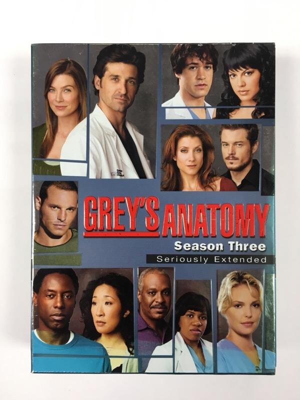 Grey's Anatomy: Season Three -Seriously Extended -(DVD Box Set, 2007)