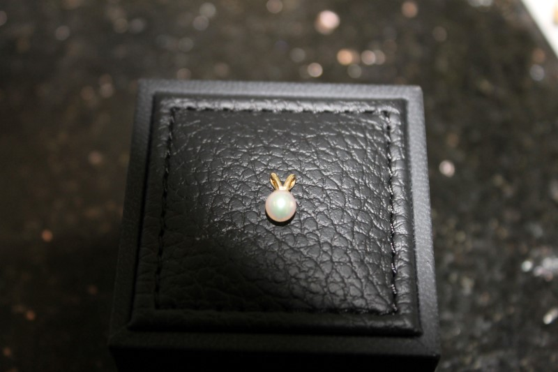 5mm White Pearl Yellow Gold Pendant