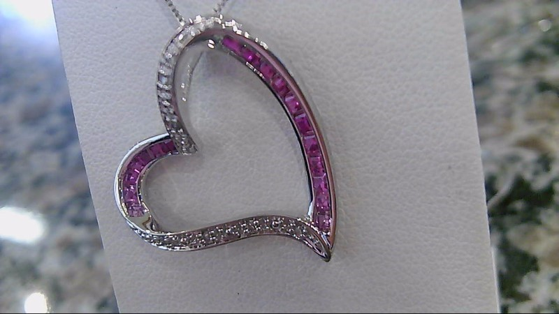Diamond Necklace 26 Diamonds .26 Carat T.W. 10K White Gold 3.5g