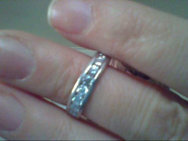 Lady's Platinum-Diamond Wedding Band 11 Diamonds .88 Carat T.W. 950 Platinum