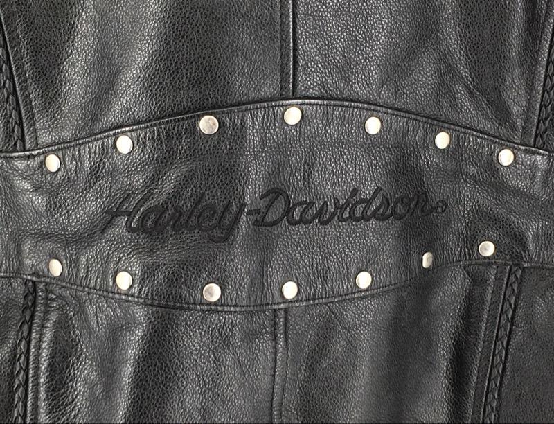 Harley Davidson Leather Jacket Womans CA03402 (L)