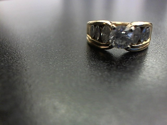 Lady's Diamond Wedding Band 7 Diamonds 1.30 Carat T.W. 14K Yellow Gold 7.8g