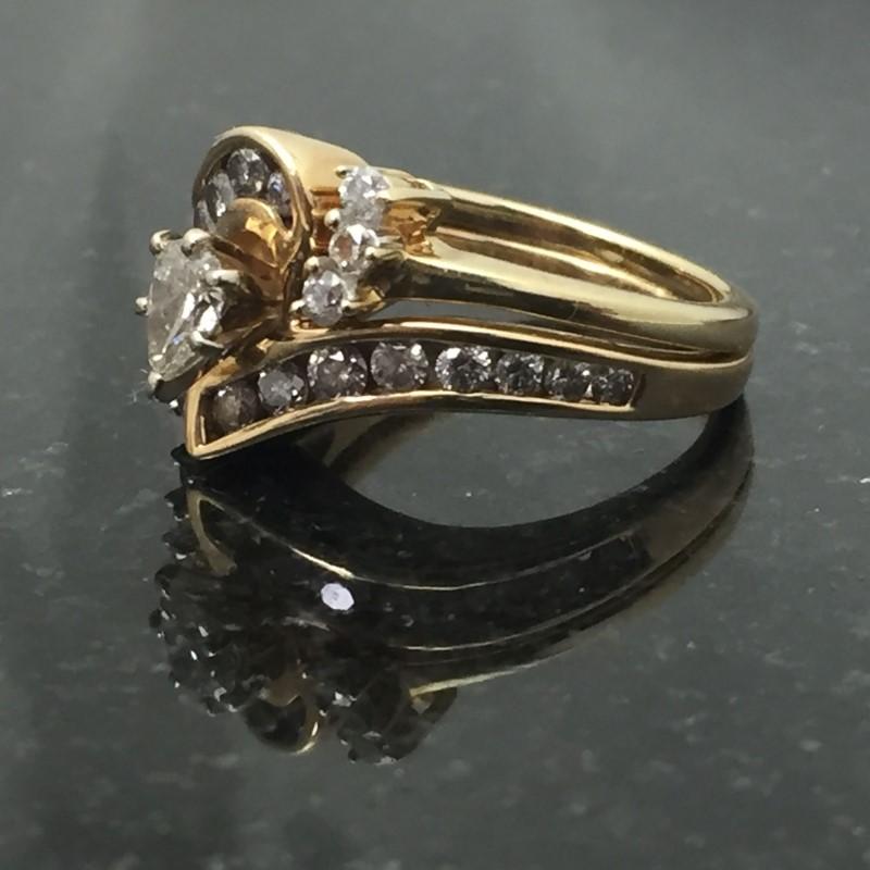 Lady's Diamond Wedding Set 23 Diamonds .95 Carat T.W. 14K Yellow Gold 5.3dwt