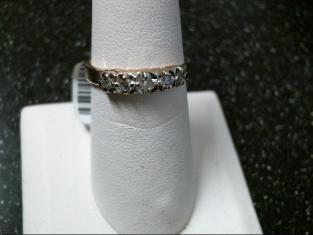 Lady's Gold-Diamond Anniversary Ring 5 Diamonds .26 Carat T.W. 14K Yellow Gold
