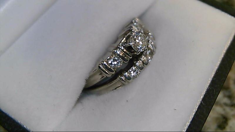 Lady's Platinum-Diamond Wedding Band 6 Diamonds .45 Carat T.W. 950 Platinum