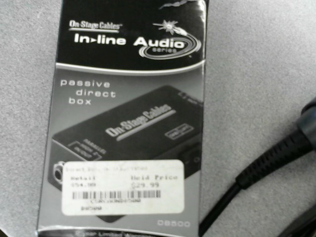 ON STAGE CABLES PASSIVE DIRECT BOX