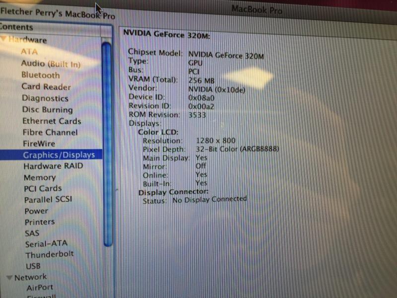 "APPLE MACBOOK PRO **AS-IS** (MID-2010) 13"" 2.4GHZ, 4GB RAM, 250GB"