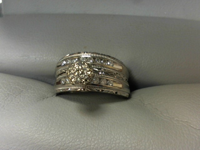 Lady's Diamond Wedding Set 20 Diamonds .20 Carat T.W. 10K White Gold 4.3g