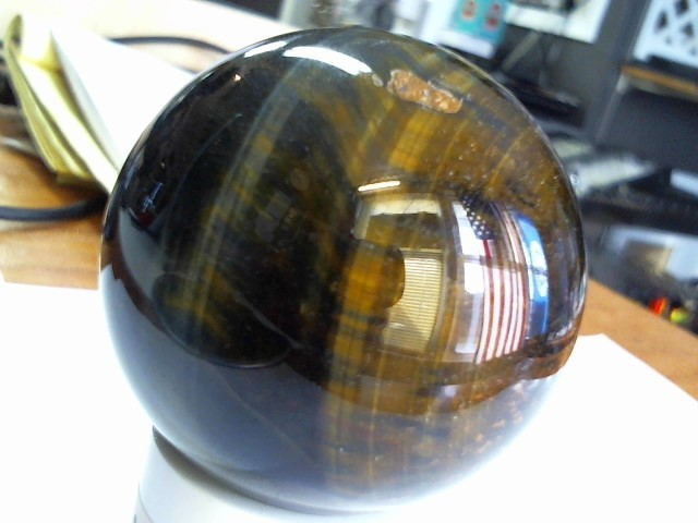 TIGER'S EYE SPHERE CHATOYANT BALL 48MM