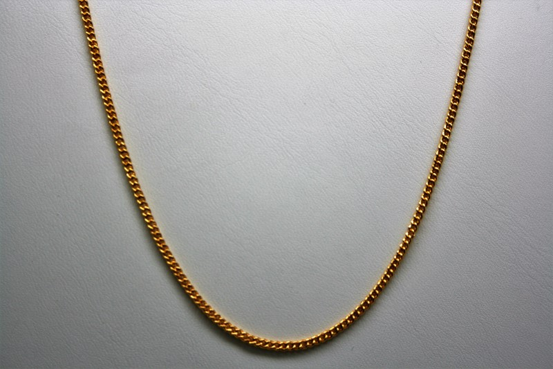 """18"""" SMALL CURB LINK CHAIN 22K YELLOW GOLD"""
