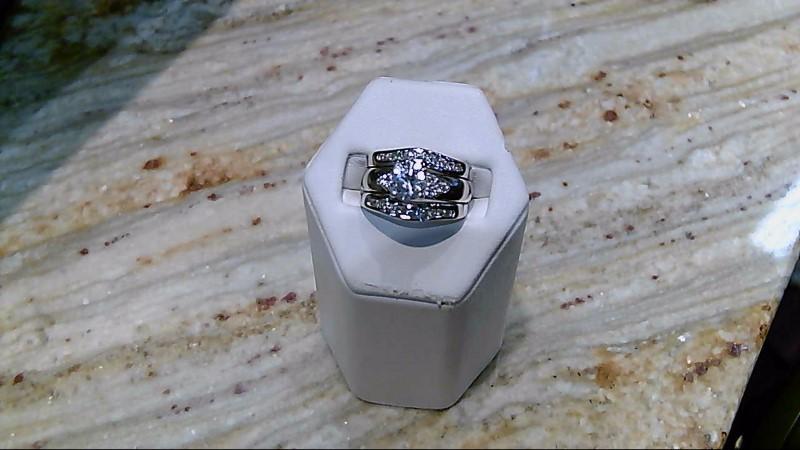 Synthetic Cubic Zirconia Lady's Stone & Diamond Ring 24 Diamonds .24 Carat T.W.