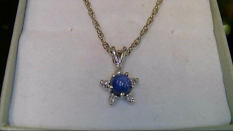 Star Sapphire Diamond & Stone 14K White Gold Necklace