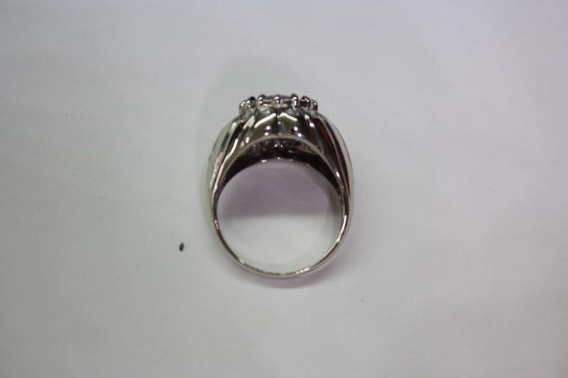 Purple Stone Lady's Stone & Diamond Ring 18 Diamonds .54 Carat T.W. Size: 7.5
