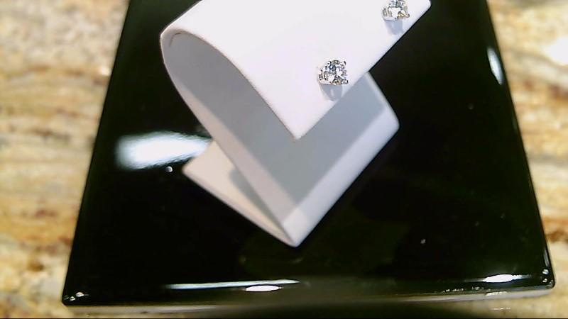 18k white gold 1/2cttw  round diamond stud earrings