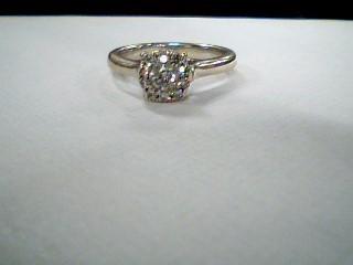 Lady's Diamond Engagement Ring 11 Diamonds .42 Carat T.W. 14K White Gold 4.2g