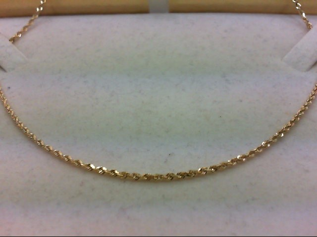 """16"""" Gold Rope Chain 14K Yellow Gold 3.8g"""