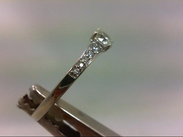 Lady's Diamond Engagement Ring 11 Diamonds 1.06 Carat T.W. 14K White Gold 2.61g