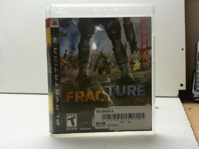 SONY Sony PlayStation 3 Game PS3 FRACTURE