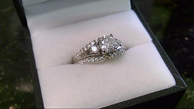 Lady's Diamond Engagement Ring 14K White Gold