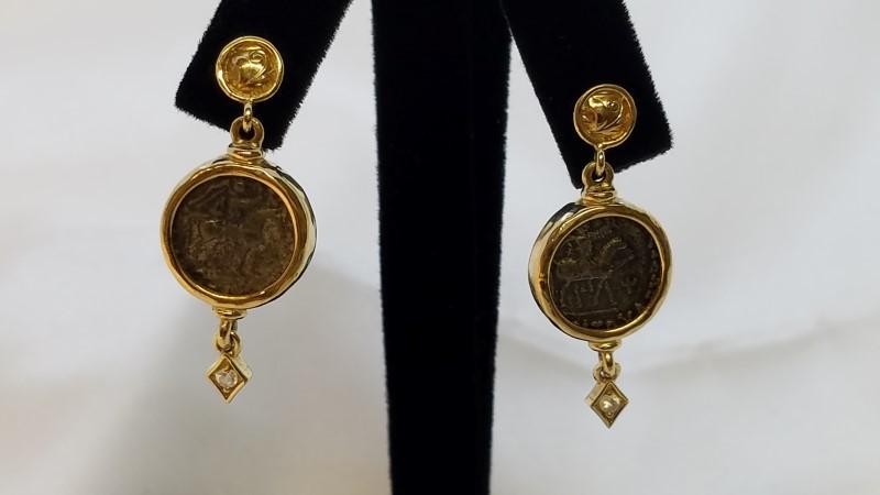Gold Earrings 14K Yellow Gold 11.3g