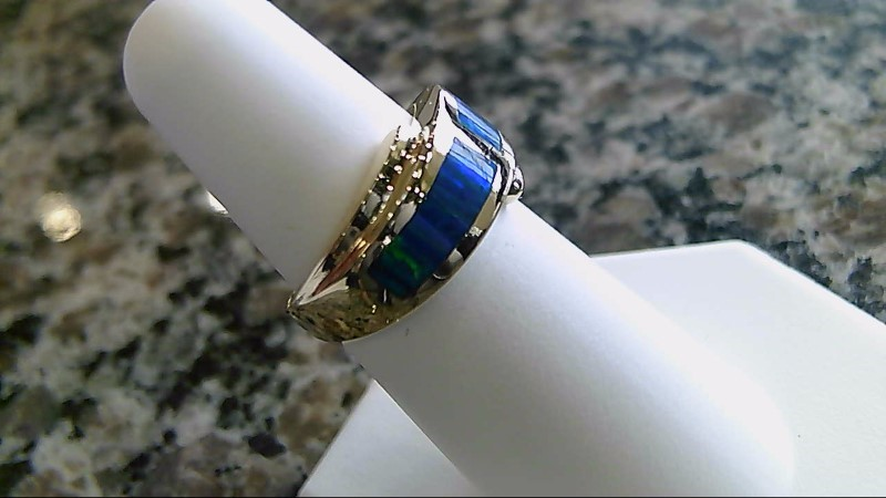Lady's Gold Ring 14K Yellow Gold 6.5g Size:6.5