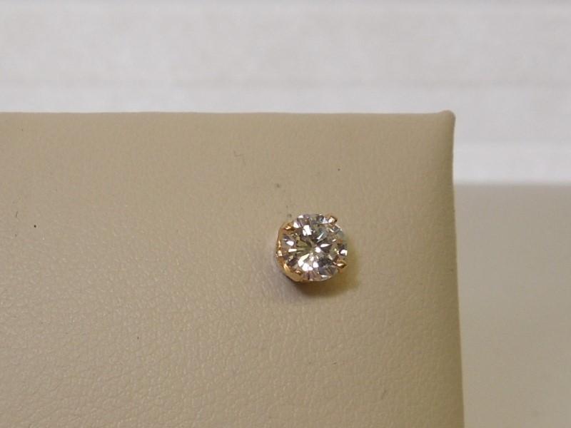 Gold-Diamond Earrings .35 CT. 14K Yellow Gold 0.5g