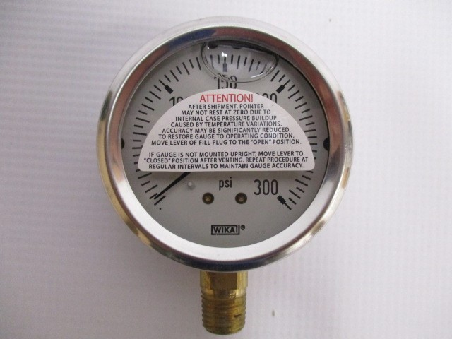 "WIKA 300 PSI GAUGE 213.53 2.5"" STAINLESS STEEL"