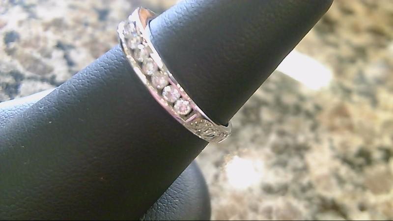 Lady's Diamond Wedding Band 14 Diamonds .14 Carat T.W. 14K White Gold 2.7g