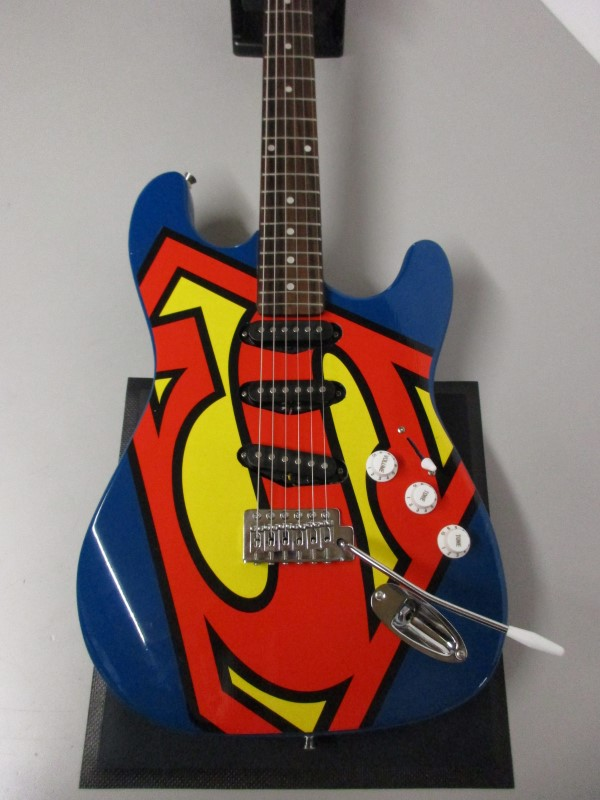 SIX FLAGS SUPERMAN GUITAR
