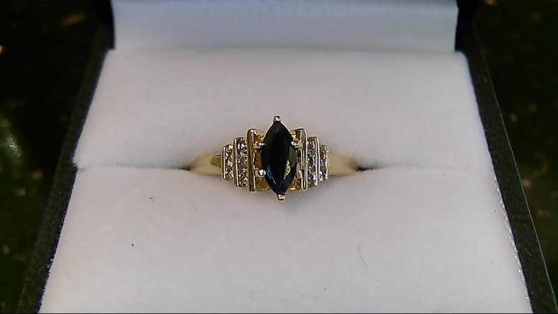 Marquise Sapphire Lady's Stone & Diamond Ring