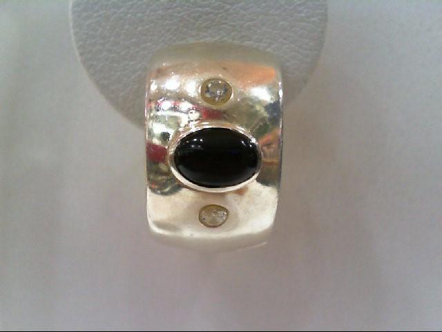 Silver-Diamond Earrings .15 CT. 925 Silver 2.3g