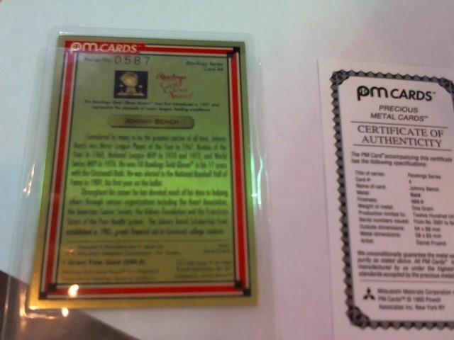 PM CARDS Baseball CARDS 24K BASEBALL CARD