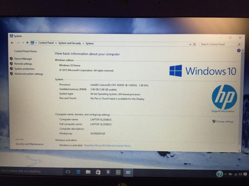 Hewlett Packard Stream 1.60GHz Intel Celeron, 32GB HD -