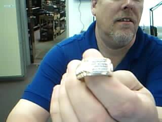 Gent's Diamond Cluster Ring 30 Diamonds .90 Carat T.W. 10K Yellow Gold 9.1g
