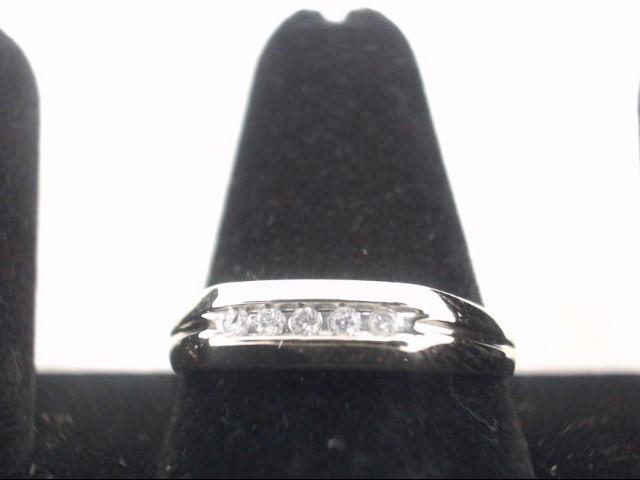 Lady's Diamond Wedding Band 5 Diamonds .15 Carat T.W. 14K Yellow Gold 2.6g