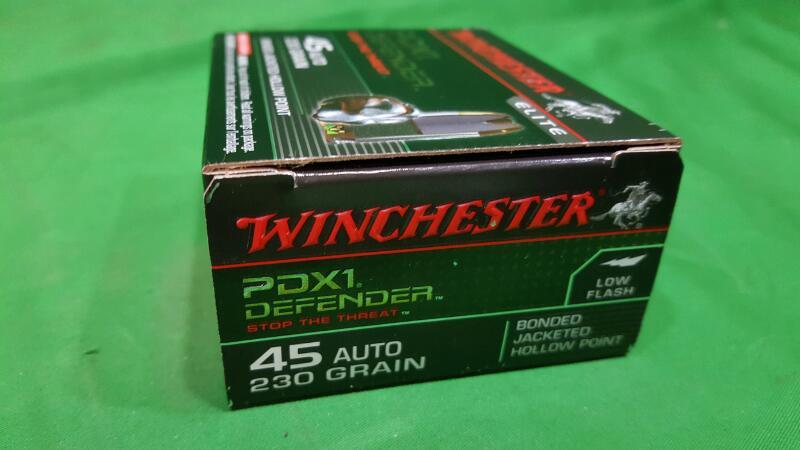 Winchester Supreme Elite Bonded PDSX1 .45 Auto 230-Grain Handgun Ammunition